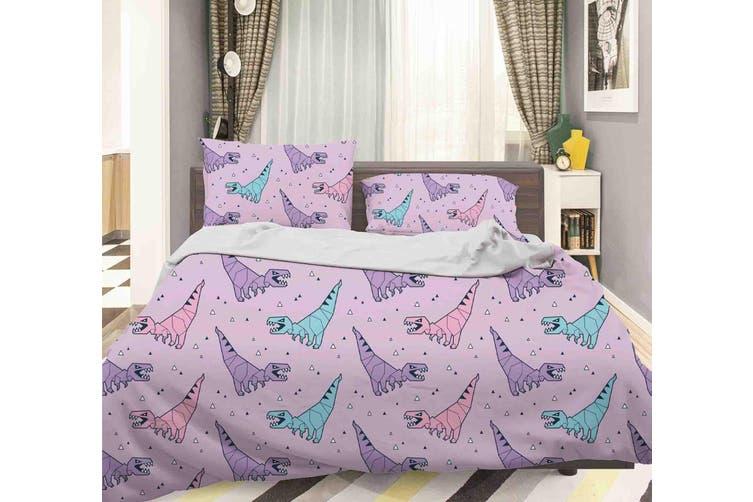 3D Color Cartoon Dinosaur Pattern Quilt Cover Set Bedding Set Pillowcases  43-King