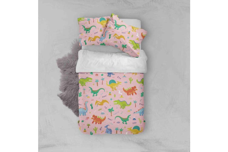 3D Color Cartoon Dinosaur Pattern Quilt Cover Set Bedding Set Pillowcases  42-King
