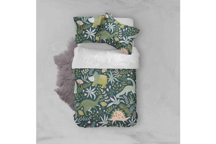 3D Color Cartoon Dinosaur Pattern Quilt Cover Set Bedding Set Pillowcases  41-Single