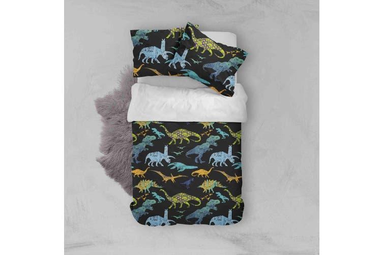 3D Color Dinosaur Pattern Quilt Cover Set Bedding Set Pillowcases  39-Double
