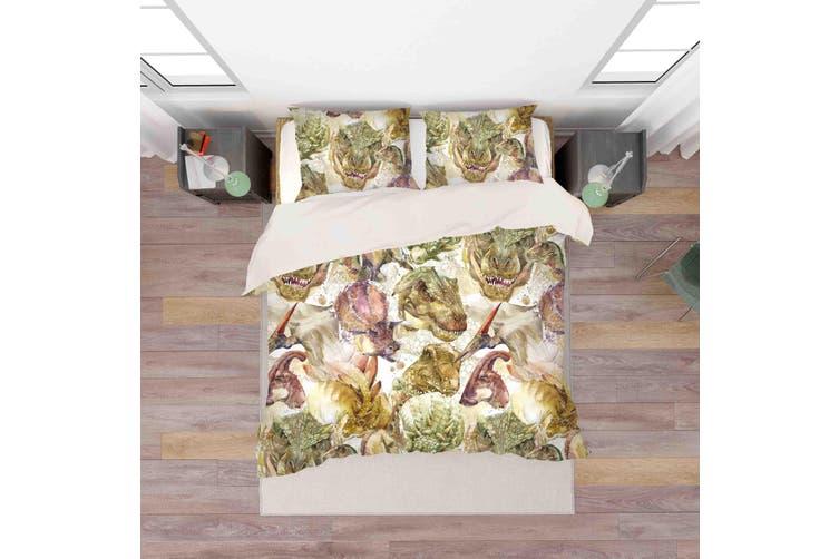 3D Color Dinosaur Quilt Cover Set Bedding Set Pillowcases  38-Double