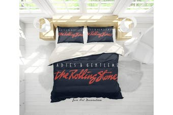 3D Band The Rolling Stones Quilt Cover Set Bedding Set Pillowcases 19-Double