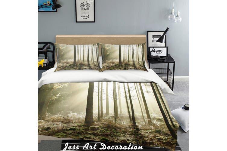 3D Forest Sunshine Quilt Cover Set Bedding Set Pillowcases  219-Double