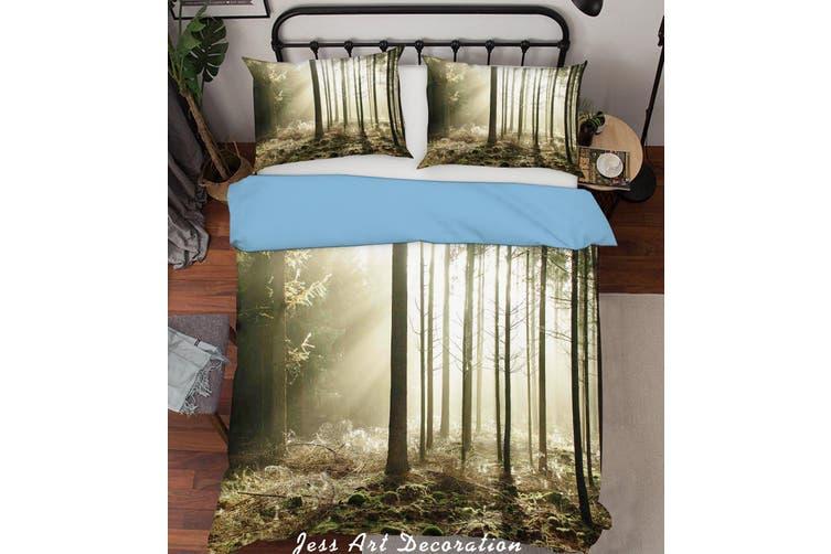 3D Forest Sunshine Quilt Cover Set Bedding Set Pillowcases  219-Queen