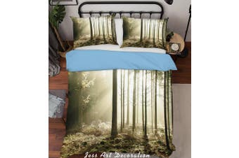 3D Forest Sunshine Quilt Cover Set Bedding Set Pillowcases  219-King