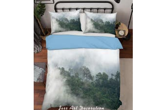 3D Green Forest Fog Quilt Cover Set Bedding Set Pillowcases  215-Single