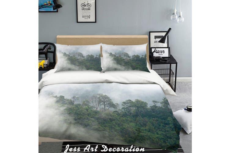 3D Green Forest Fog Quilt Cover Set Bedding Set Pillowcases  215-Double