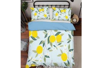 3D Golden Oranges Quilt Cover Set Bedding Set Pillowcases  212-Queen