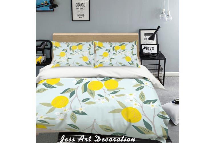3D Golden Oranges Quilt Cover Set Bedding Set Pillowcases  212-King