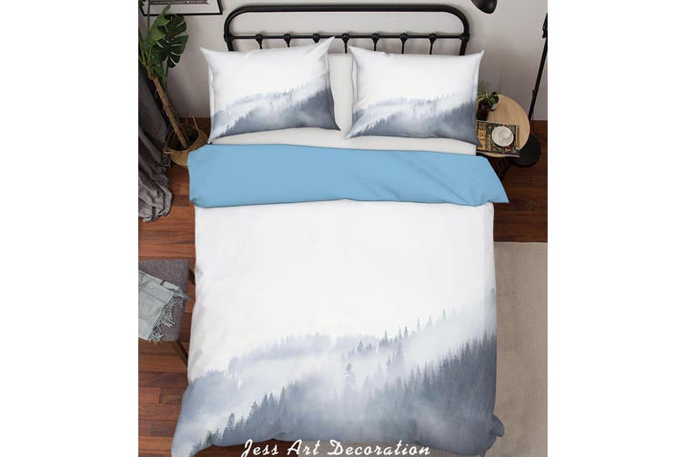 3D Forest Fog Quilt Cover Set Bedding Set Pillowcases  209-Single