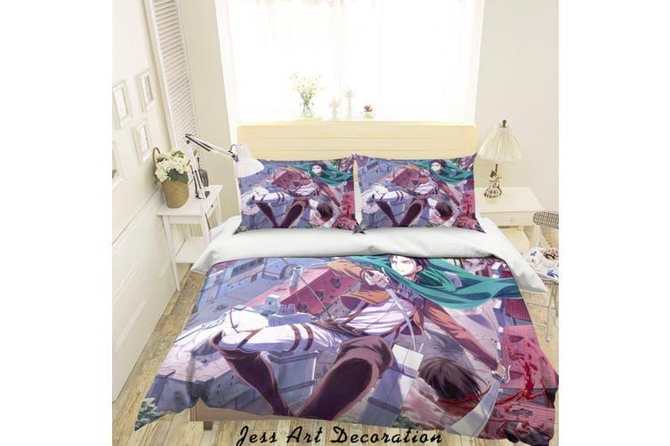 3D Attack On Titan Quilt Cover Set Bedding Set Pillowcases 9-Queen