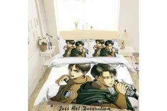 3D Attack On Titan Quilt Cover Set Bedding Set Pillowcases 6-Double