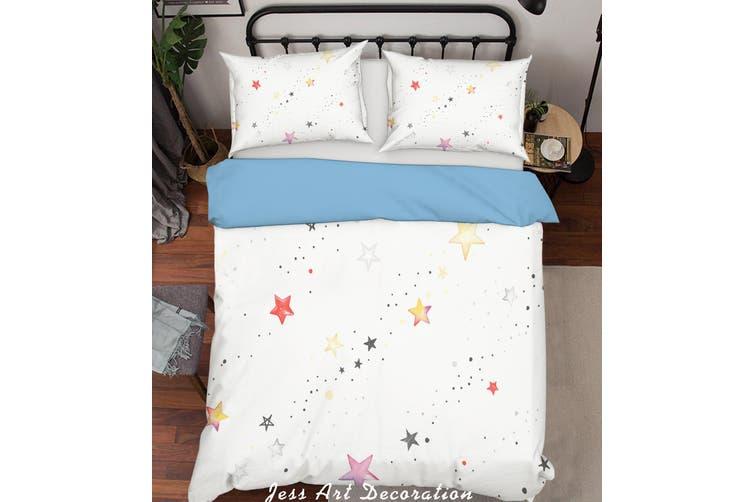 3D Color Stars Quilt Cover Set Bedding Set Pillowcases  196-King