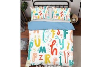 3D Color Cartoon Letters Quilt Cover Set Bedding Set Pillowcases  193-Single