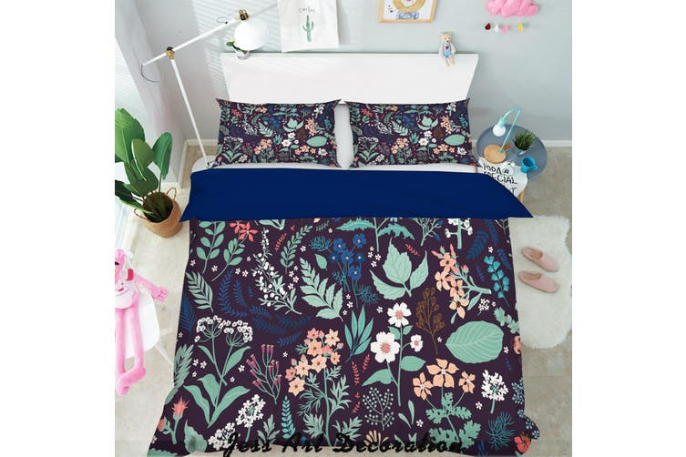 3D Color Leaves Flowers Pattern Quilt Cover Set Bedding Set Pillowcases  165-Single