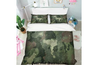 3D Green Gradient Quilt Cover Set Bedding Set Pillowcases  159-Queen