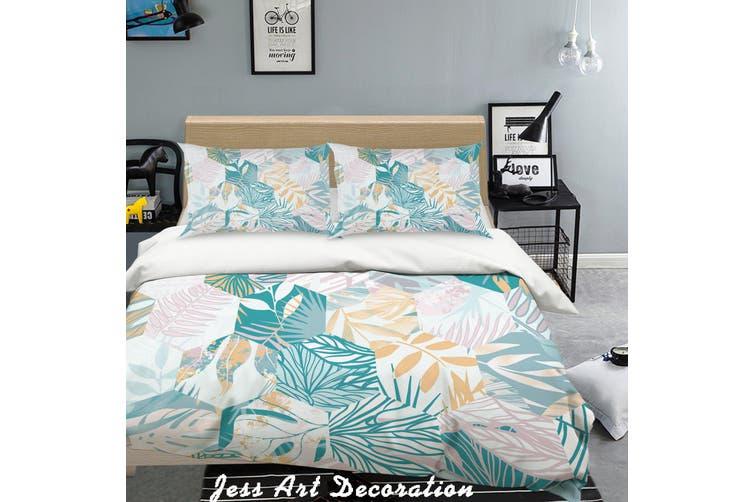 3D Color Leaves Quilt Cover Set Bedding Set Pillowcases  157-King