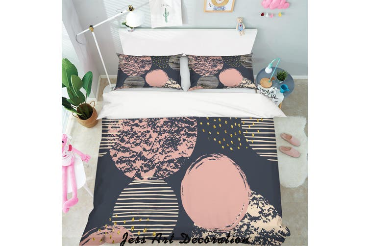 3D Color Geometry Speckle Pattern Quilt Cover Set Bedding Set Pillowcases  156-King