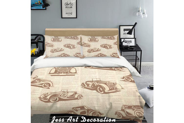 3D Color Cars Pattern Quilt Cover Set Bedding Set Pillowcases  155-Queen
