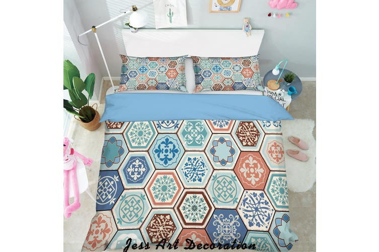 3D Color Plaid Decorative Pattern Quilt Cover Set Bedding Set Pillowcases  154-Single