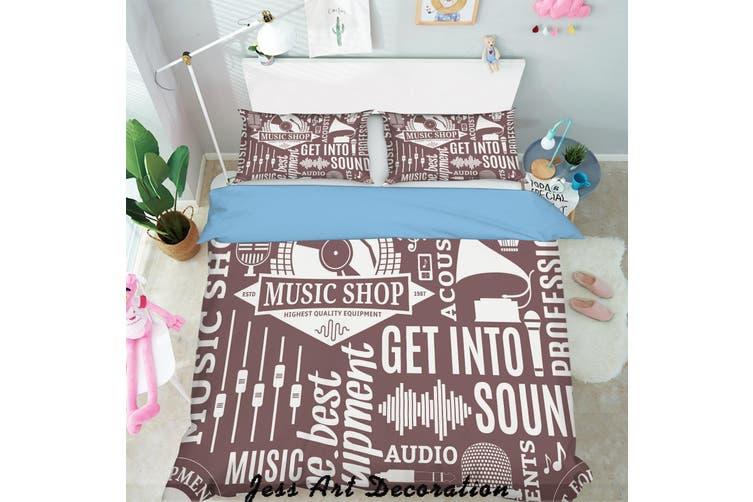 3D White Letters Quilt Cover Set Bedding Set Pillowcases  152-Queen