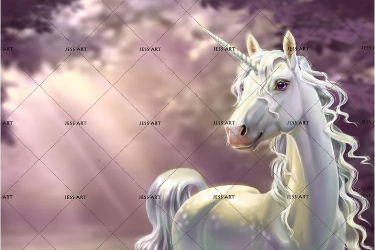 3D Pink Unicorn Quilt Cover Set Bedding Set Pillowcases 115-Double
