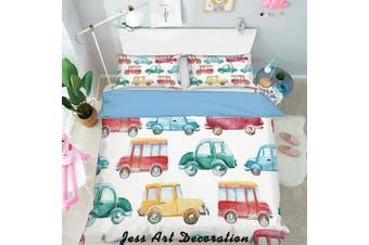 3D Color Cartoon Cars Quilt Cover Set Bedding Set Pillowcases  148-Single