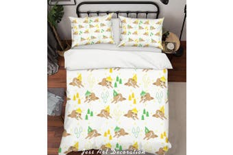 3D Cartoon Pine Animal Quilt Cover Set Bedding Set Pillowcases 16-Single