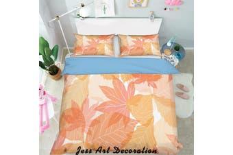 3D Red Leaf Quilt Cover Set Bedding Set Pillowcases  133-Single