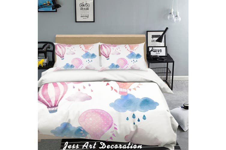 3D Color Hot Air Balloon Pattern Quilt Cover Set Bedding Set Pillowcases  128-King