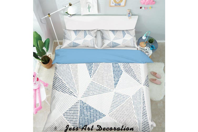 3D Color Triangle Geometry Pattern Quilt Cover Set Bedding Set Pillowcases  127-Double