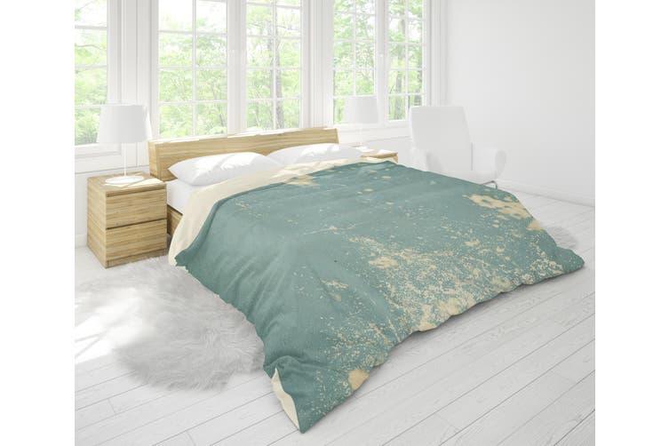 3D Blue Wall Peeling Quilt Cover Set Bedding Set Pillowcases 104-Double