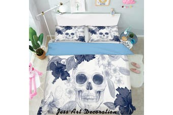3D Black White Flowers Quilt Cover Set Bedding Set Pillowcases  125-Queen