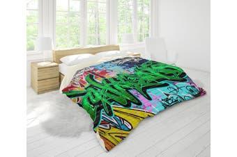 3D Graffiti Quilt Cover Set Bedding Set Pillowcases 108-King
