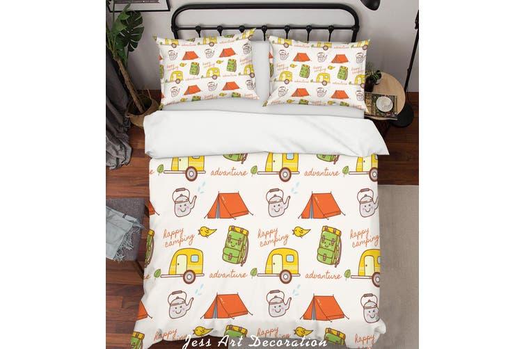 3D Cartoon Teapot Tent Schoolbag Quilt Cover Set Bedding Set Pillowcases 1-Single