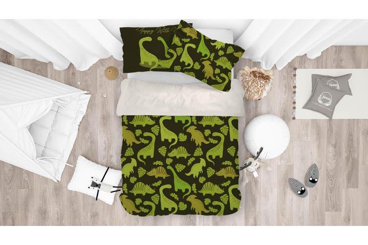3D Dinosaur Green Quilt Cover Set Bedding Set Pillowcases 18-Single