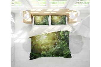 3D Green Forest Quilt Cover Set Bedding Set Pillowcases 3-King
