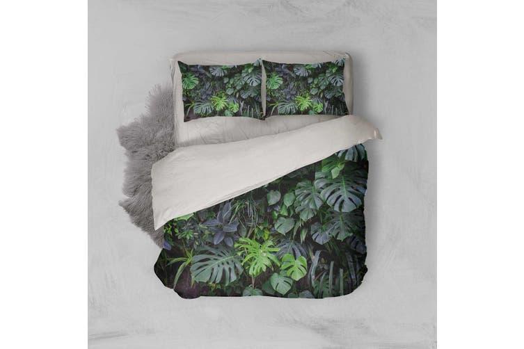 3D Green Leaf Quilt Cover Set Bedding Set Pillowcases 2-Single
