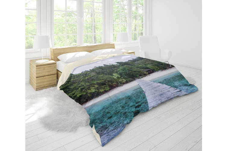 3D Sea Forest Wooden Trestle Quilt Cover Set Bedding Set Pillowcases 85-Single