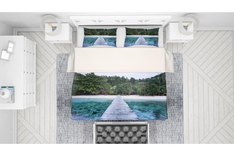 3D Sea Forest Wooden Trestle Quilt Cover Set Bedding Set Pillowcases 85-Double