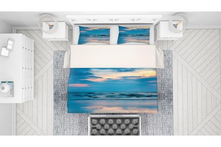 3D Blue Sea Quilt Cover Set Bedding Set Pillowcases 84-Double