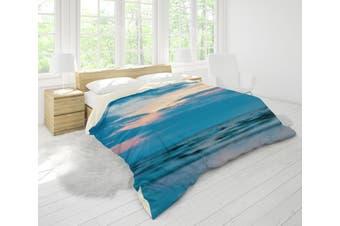 3D Blue Sea Quilt Cover Set Bedding Set Pillowcases 84-Queen