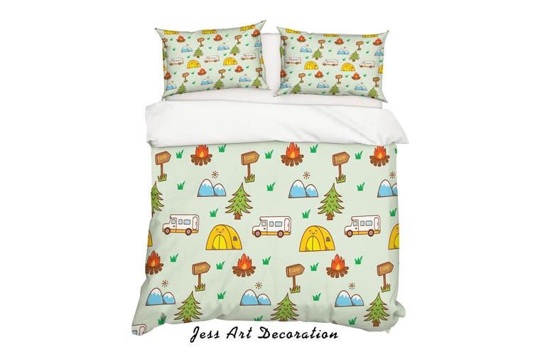 3D Cartoon Pine Fire Quilt Cover Set Bedding Set Pillowcases 10-Single