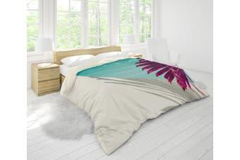 3D Green White Leaves Quilt Cover Set Bedding Set Pillowcases 75-King