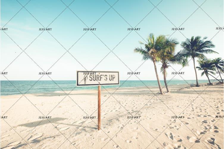 3D Coconut Tree Sea Beach Quilt Cover Set Bedding Set Pillowcases 71-Double