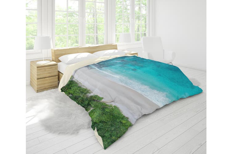 3D Sea Beach Forest Quilt Cover Set Bedding Set Pillowcases 47-Queen
