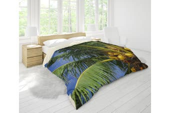 3D Coconut Tree Quilt Cover Set Bedding Set Pillowcases 40-Queen