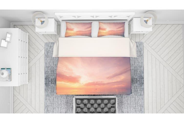 3D Golden Sunset Sea Quilt Cover Set Bedding Set Pillowcases 38-King