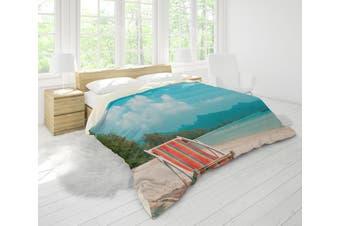 3D Sea Beach Recliner Mountains Forest Quilt Cover Set Bedding Set Pillowcases 37-Single