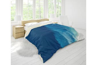 3D Blue Sea Wave Forest Quilt Cover Set Bedding Set Pillowcases 32-King